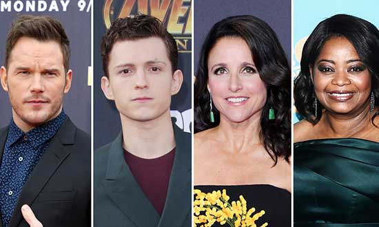 chris pratt tom holland julia louis dreyfus octavia spencer onward