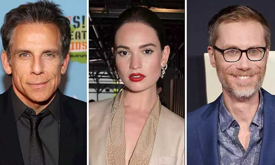 ben stiller lily james and stephen merchant are in talks lockdowns